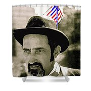 Extra With Flag In Hat The Great White Hope Set Globe Arizona 1969-2008 Shower Curtain