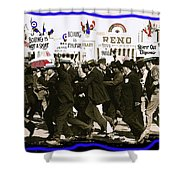 Extras Racing To The Boxing Arena The Great White Hope Set Globe Arizona 1969-2009 Shower Curtain