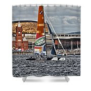 Extreme 40 Team Wales Landrover Shower Curtain