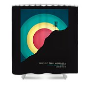 Extreme Disc Golf Shower Curtain