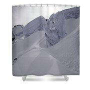 Extreme Skier Going Fast In Beautiful Shower Curtain