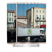 Extreme Stunt Show Walt Disney World 4 Panel Composite Shower Curtain