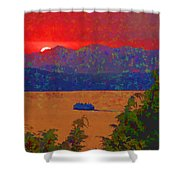 Extreme Sunset Shower Curtain