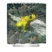 Extrude Yellow Frog Shower Curtain
