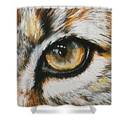 Eye-catching Bobcat Shower Curtain by Barbara Keith