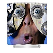 Eye Exam Shower Curtain