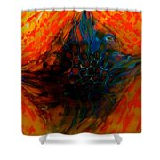 Eye Of A Fire Dragon Shower Curtain