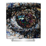 Eye Of A Hurricane Called You Shower Curtain