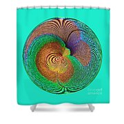 Eye Of The Peacock Orb Shower Curtain