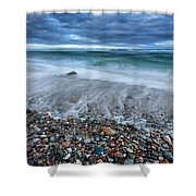 Eye Of The Storm Square Shower Curtain