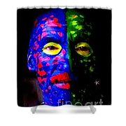 Eye See Colors Mardi Gras Hand Painted Face Shower Curtain