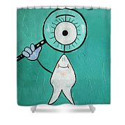 Eye Tooth  Shower Curtain by Anthony Falbo