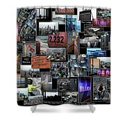 Eyes Down From The 103rd Floor Collage Shower Curtain