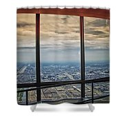Eyes Down From The 103rd Floor Looking South Shower Curtain