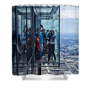 Eyes Down From The 103rd Floor Neighbors Shower Curtain