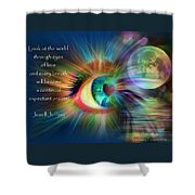 Eyes Of Love Shower Curtain