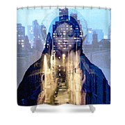 Eyes On The Alley Shower Curtain