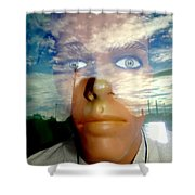 Eyes On The Horizon Shower Curtain