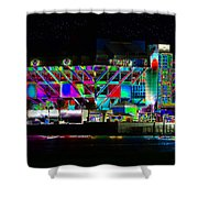 Eyes On The Pier Shower Curtain