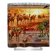 Eygptian Scene Shower Curtain