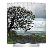 Eype Downs Overlook Shower Curtain