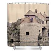 Ezelport City Gate In Bruges Shower Curtain