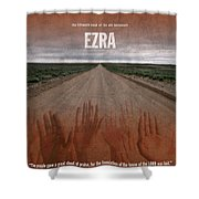 Ezra Books Of The Bible Series Old Testament Minimal Poster Art Number 15 Shower Curtain