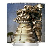 F-1 Rocket Engine Shower Curtain