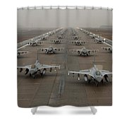 F-16 Fighting Falcons, Kunsan Air Base Shower Curtain