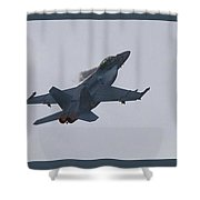 F-18 Super Hornet Vortices  Shower Curtain