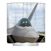 F-22 Raptor Lockheed Martin Air Force Shower Curtain
