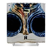 F-4 Exaust Shower Curtain