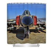 F-4c Phantom II Shower Curtain