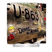 F-86d Sabre Dennis The Menace Shower Curtain