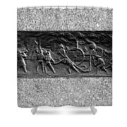F. D. N. Y. In Black And White Shower Curtain
