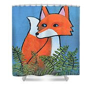 F Is For Fox Shower Curtain