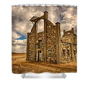 F. Schott Stone Barn  Shower Curtain