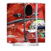 F1 Driver Felipe Massa Shower Curtain