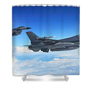 F16 Fighting Falcons Shower Curtain