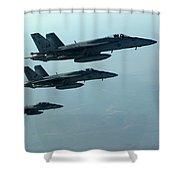 F18e Super Hornet  Shower Curtain