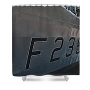 F235 Hms Monmouth Shower Curtain