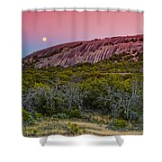 F8 And Be There - Enchanted Rock Texas Hill Country Shower Curtain
