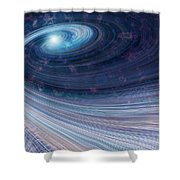 Fabric Of Space Shower Curtain by Fran Riley
