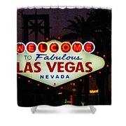 Fabulous Las Vegas Shower Curtain