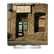 Facade American Pool Hall Coca-cola Sign Ghost Town Jerome Arizona Shower Curtain