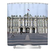 Facade Of A Museum, State Hermitage Shower Curtain