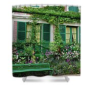 Facade Of Claude Monets House, Giverny Shower Curtain