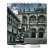 Facade Of The Silverware In Santiago De Compostela Shower Curtain