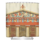 Facade Of The Temple Of Jupiter Shower Curtain