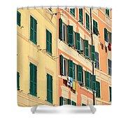 facades in Camogli Shower Curtain